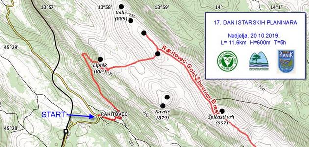 17. Dan istarskih planinara – Nedjelja 20. listopad 2019.