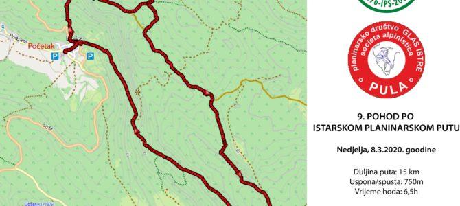 OTKAZANO! – 9. pohod po Istarskom planinarskom putu