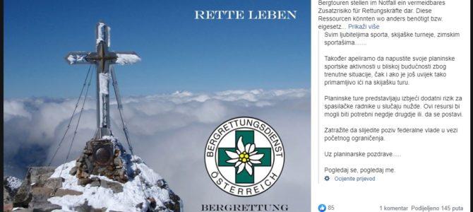 Poziv gorskih spašavatelja Lieser-Maltatal