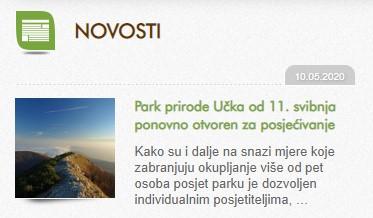 Park prirode Učka od 11. svibnja ponovno otvoren za posjećivanje